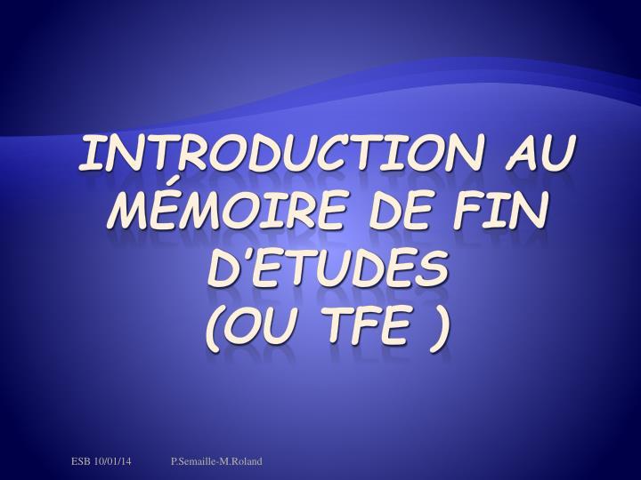 Introduction au