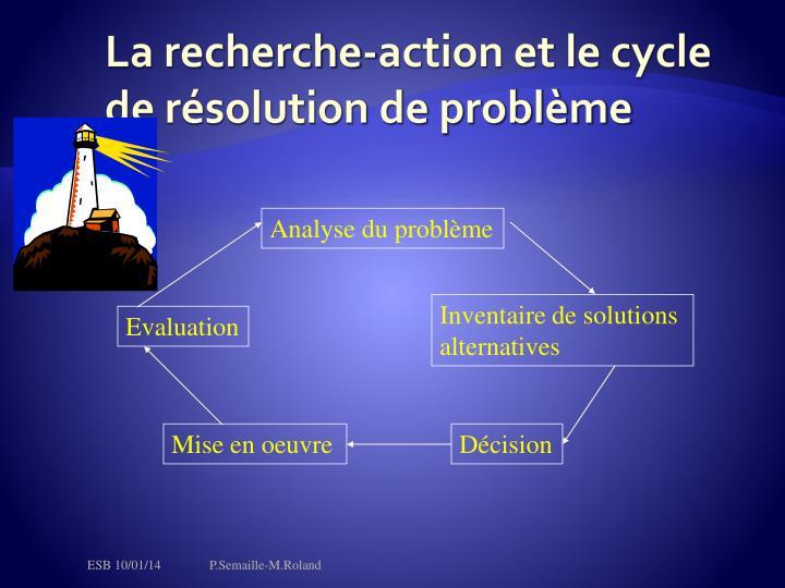 La recherche-action et le cycle