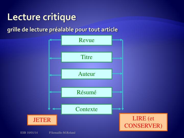 Lecture critique