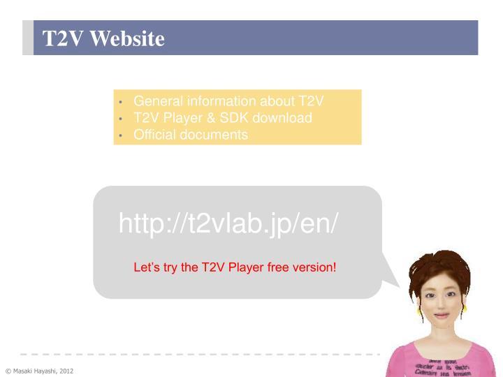 T2V Website