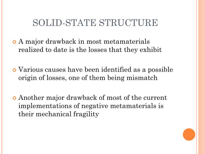SOLID-STATE STRUCTURE