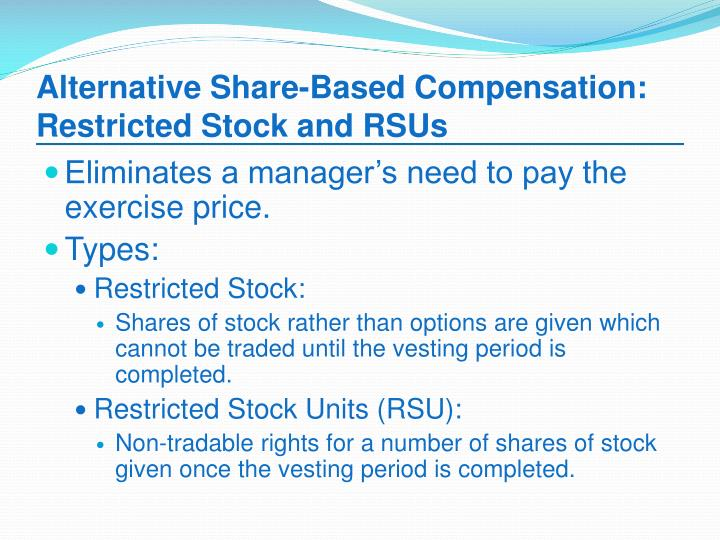 Restricted stock or options