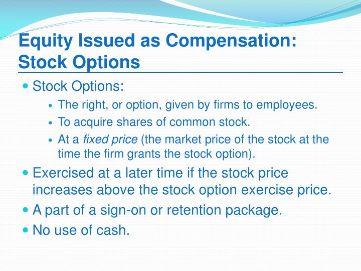 Single stock equity options