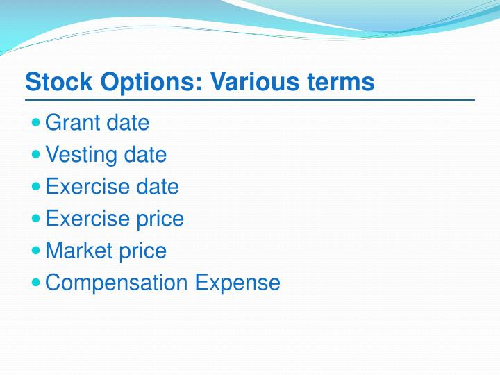 Stock options grant