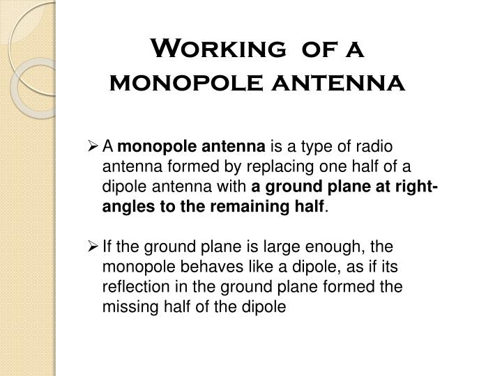 Working  of a monopole antenna