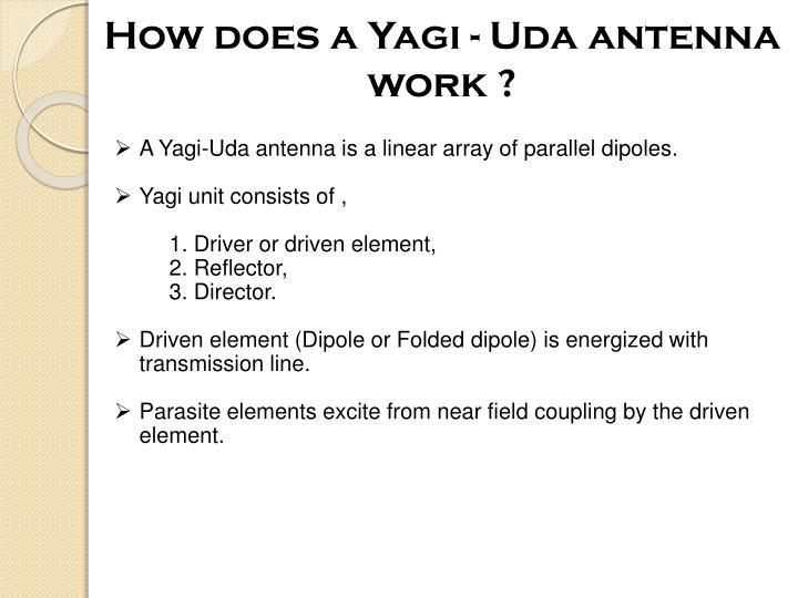 How does a Yagi - Uda antenna work ?
