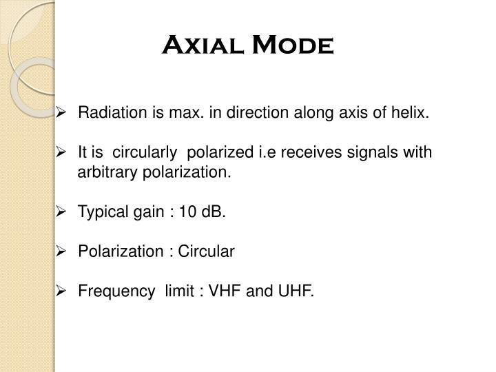 Axial Mode
