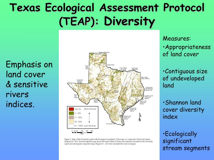 Texas Ecological Assessment Protocol (TEAP):