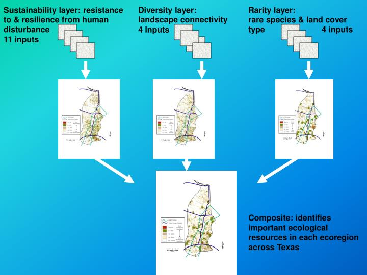Sustainability layer: resistance to & resilience from human disturbance