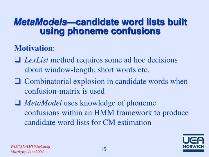 MetaModels