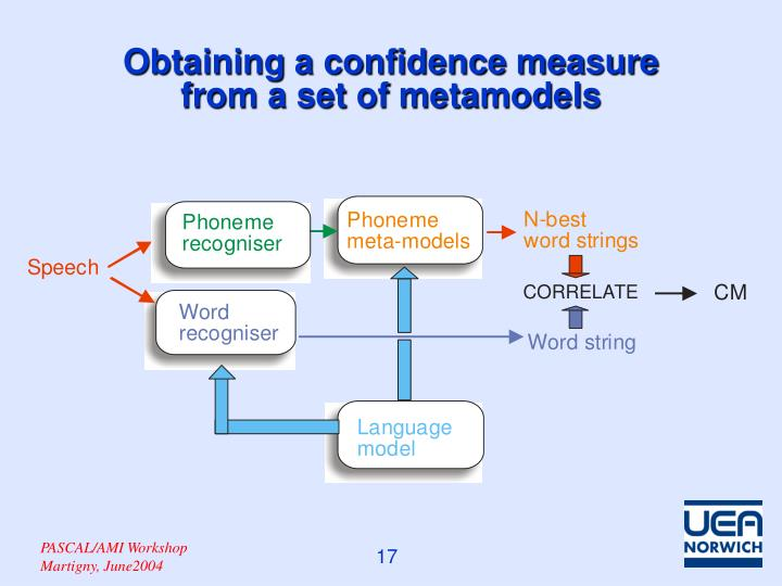 Obtaining a confidence measure