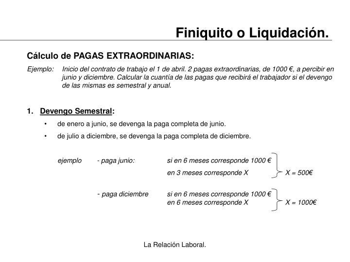 Finiquito o Liquidación.