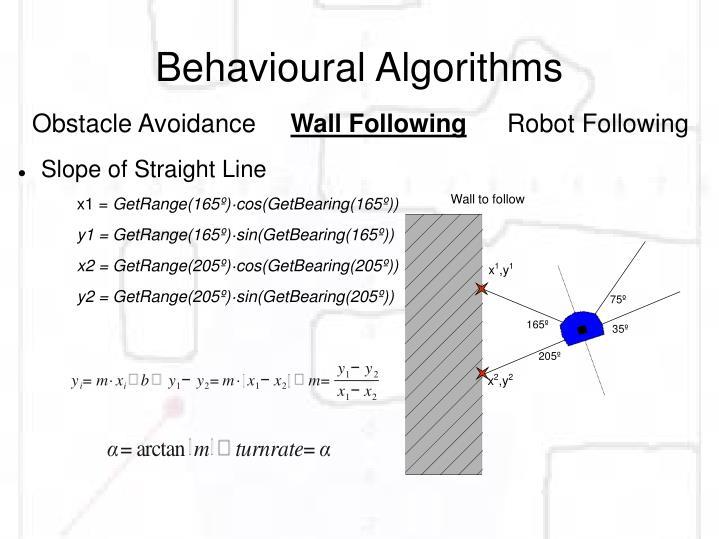 Behavioural Algorithms
