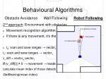 behavioural algorithms6