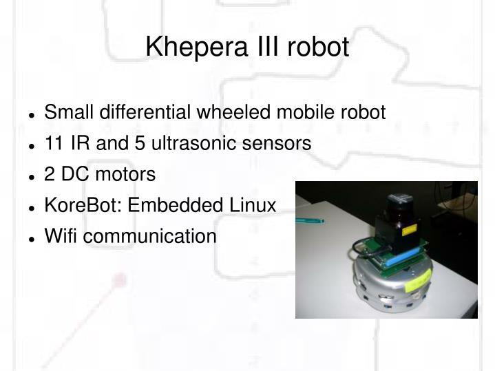 Khepera III robot