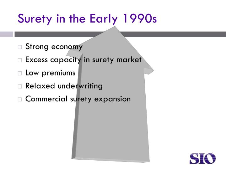 Surety in the Early 1990s