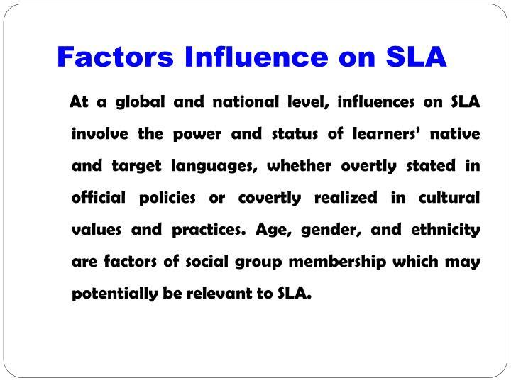 Factors Influence on SLA