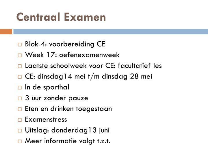 Centraal Examen
