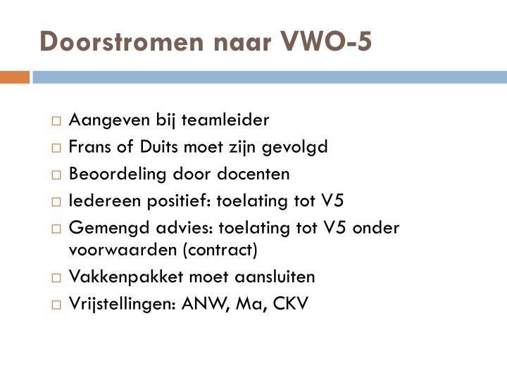 Doorstromen naar VWO-5