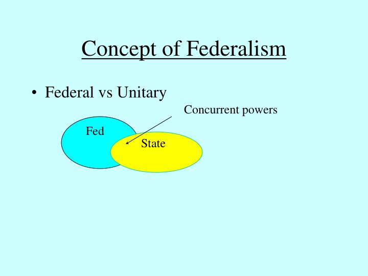 Concept of federalism