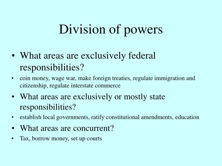 Division of powers