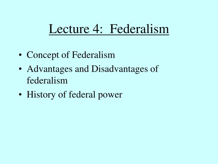 Lecture 4 federalism
