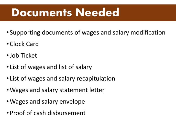 Documents needed