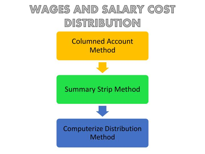 WAGES AND SALARY COST DISTRIBUTION
