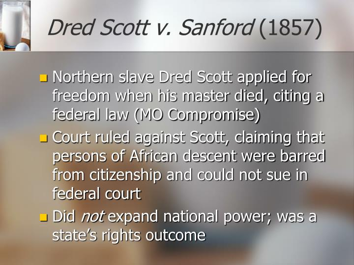 Dred Scott v. Sanford