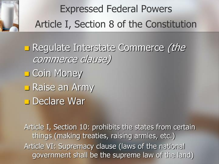 Expressed Federal Powers