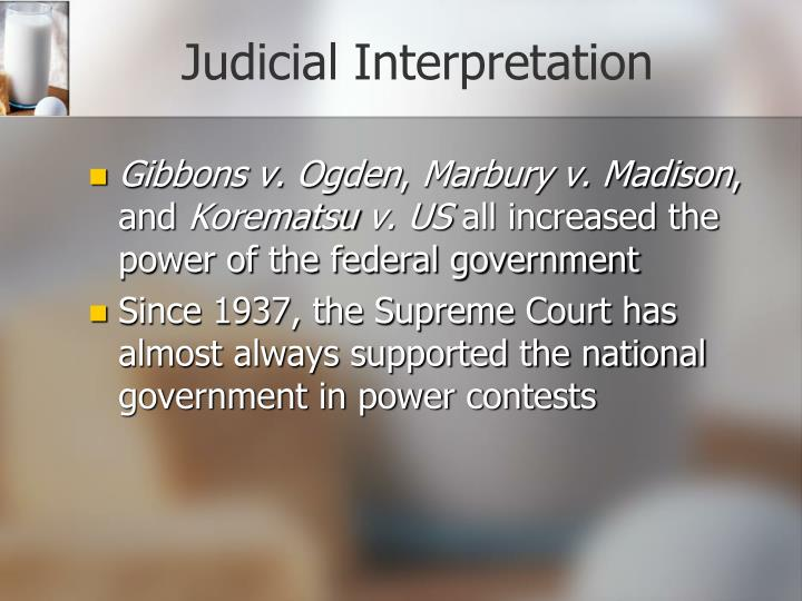 Judicial Interpretation