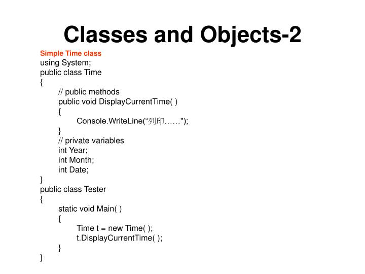 Classes and Objects-2