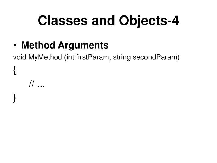 Classes and Objects-4