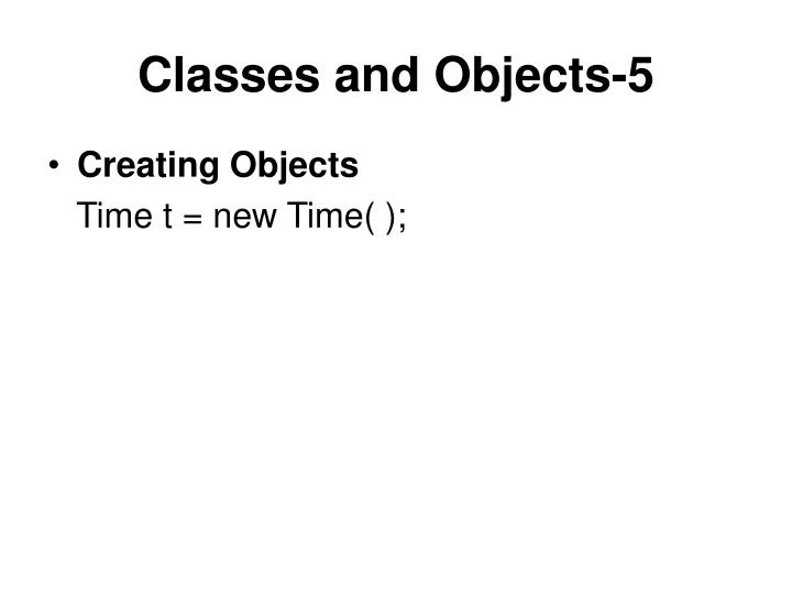 Classes and Objects-5