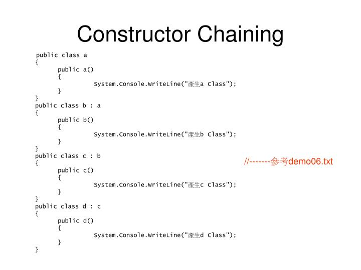 Constructor Chaining