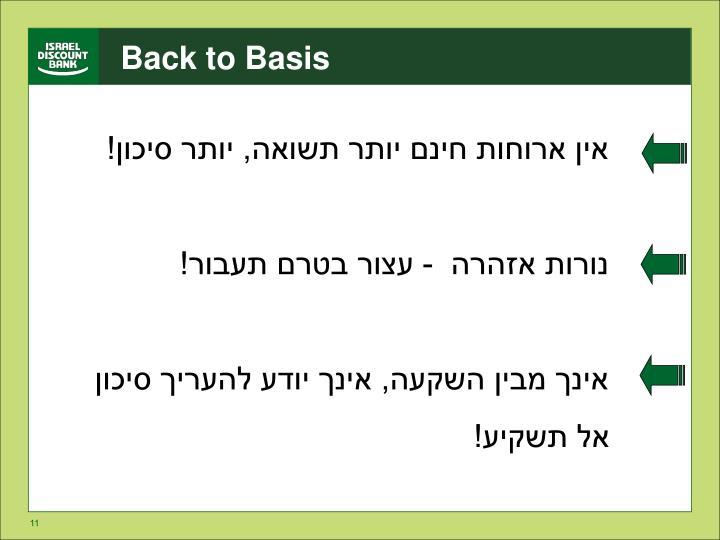 Back to Basis