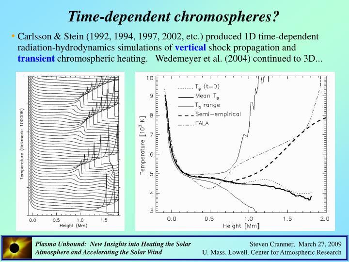 Time-dependent chromospheres?
