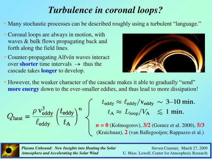 Turbulence in coronal loops?