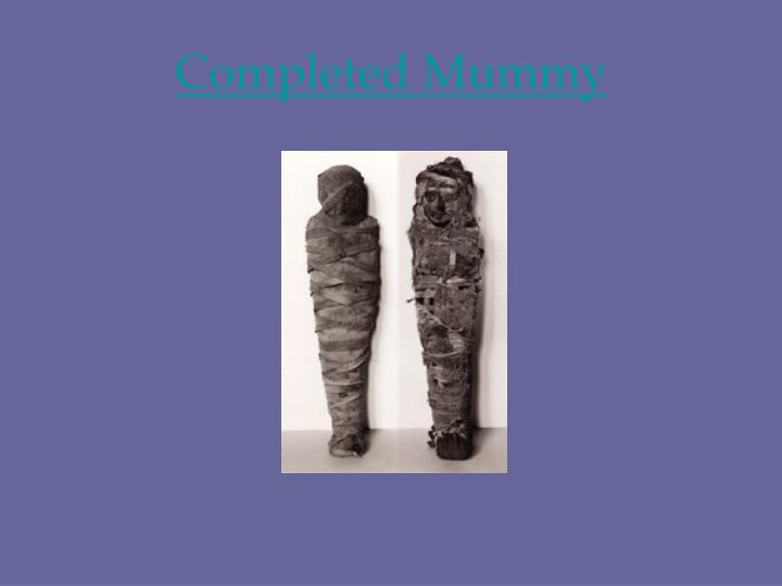 Completed Mummy