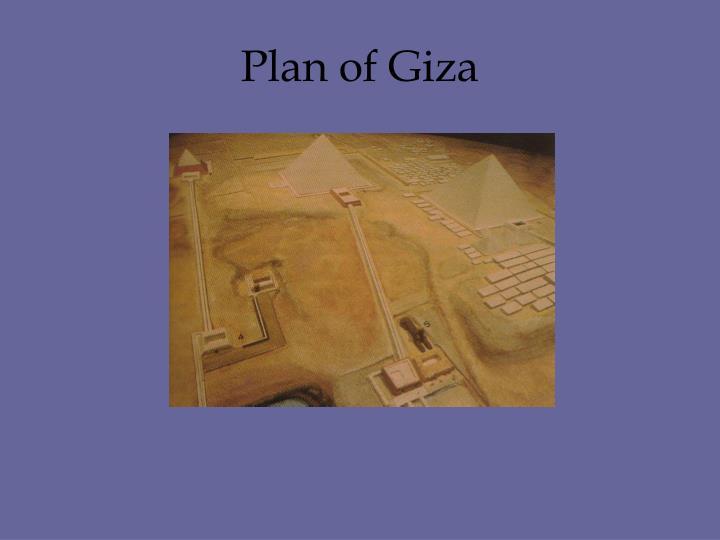 Plan of Giza