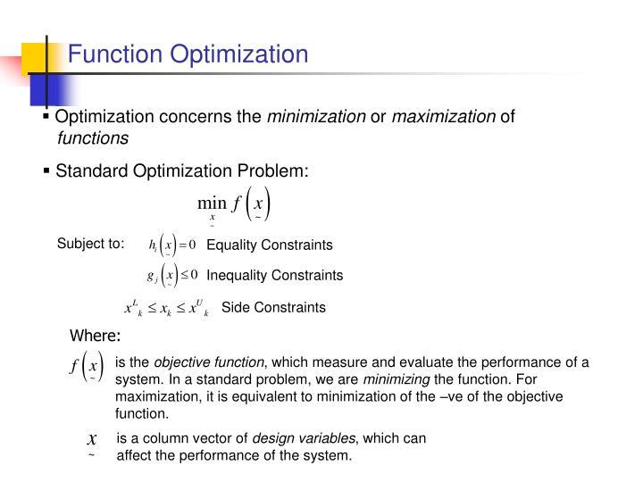 Function Optimization