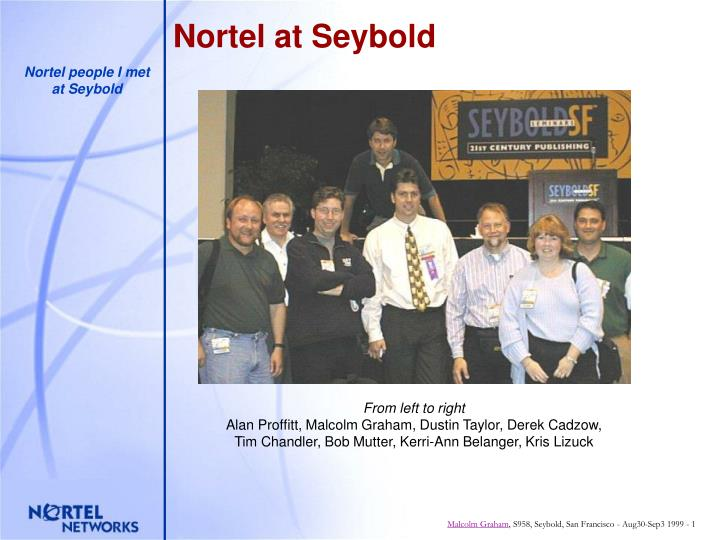 Nortel at seybold
