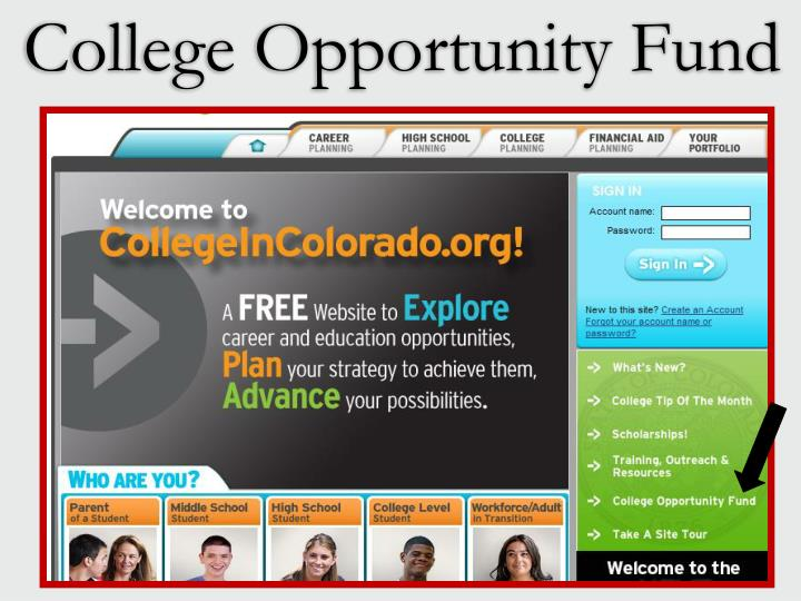 College Opportunity Fund
