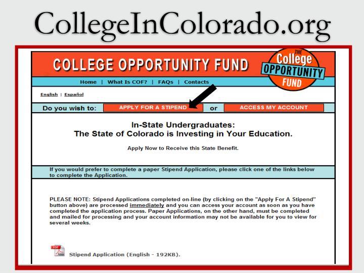 CollegeInColorado.org