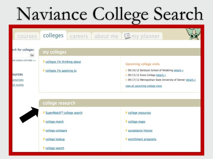 Naviance College Search