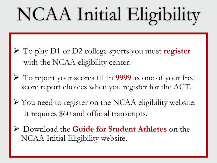 NCAA Initial Eligibility