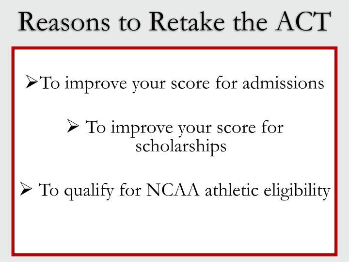 Reasons to Retake the ACT