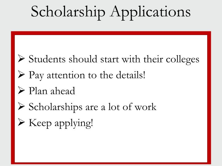 Students should start with their colleges