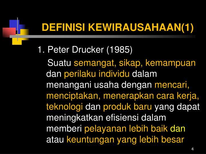 DEFINISI KEWIRAUSAHAAN(1)