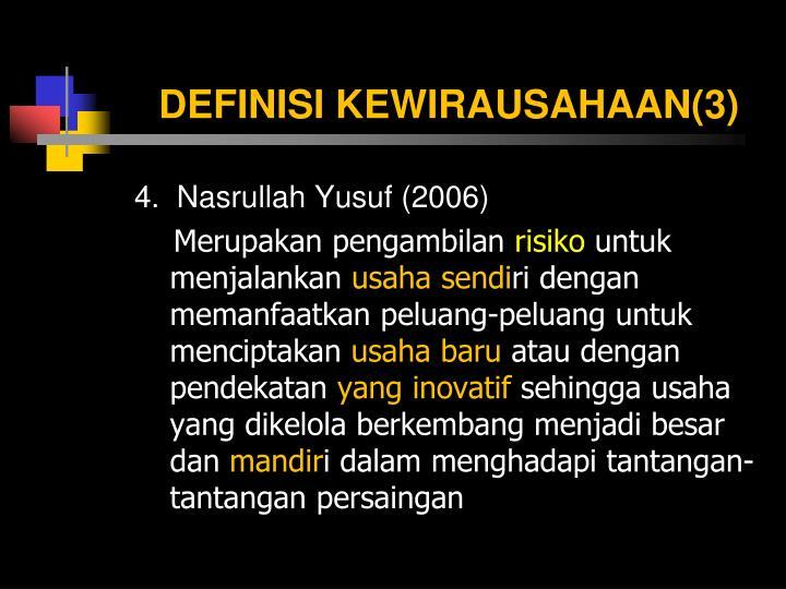 DEFINISI KEWIRAUSAHAAN(3)